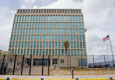 (Image: U.S. Embassy building in Havana where Álvaro requested visas in 1980)