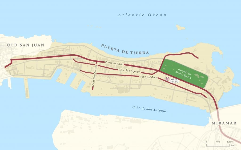 Map of Puerta de Tierra_